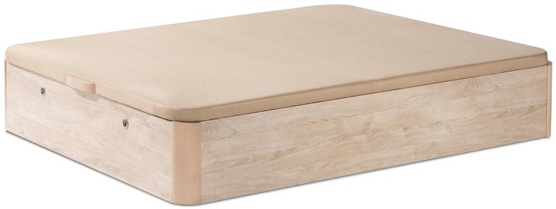Vers til canap abatible de madera con zapatero en el frente for Canape colchones