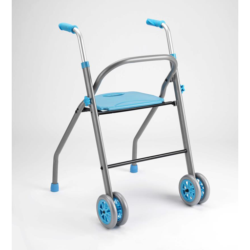 Andador para ancianos con asiento, plegable y regulable en altura