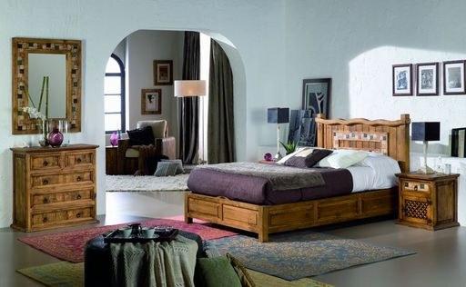 Dormitorio de madera maciza con mármol, matrimonio y juvenil