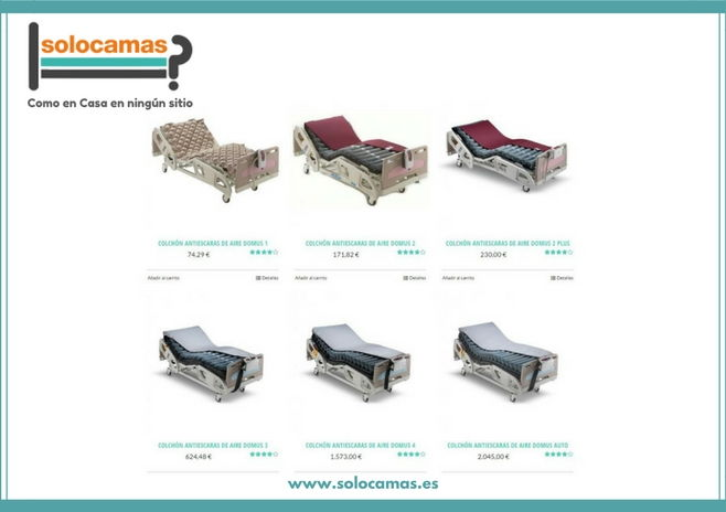 colchon antiescaras para camas articuladas solocamas